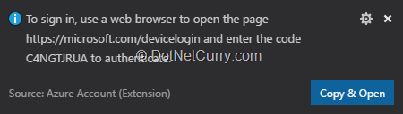 azure-account-extension-sihn-in-notification