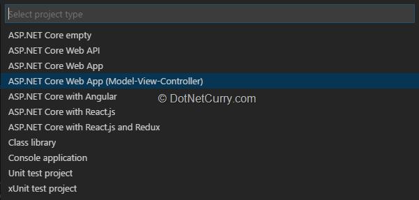 NET Core Application Development in Visual Studio Code (VS