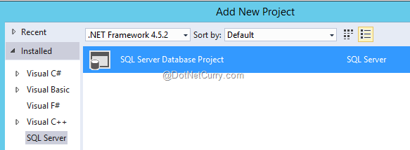 database-project-vs2015