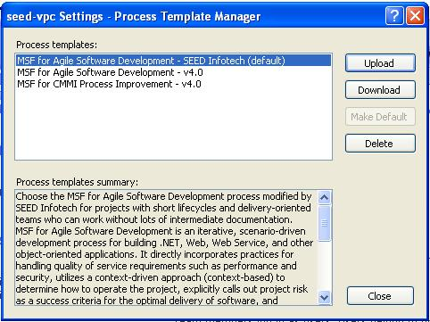 Process Template Manager