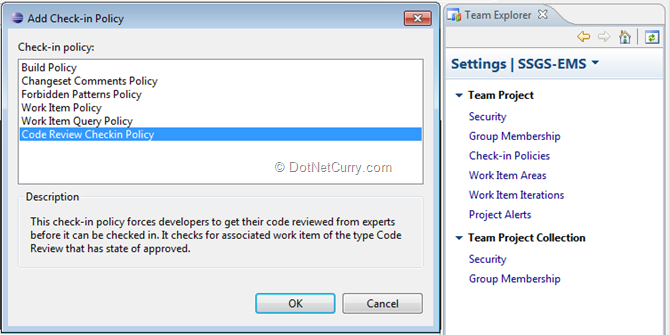 Run and Deploy Custom Check-in policy using TFS SDK 11 for