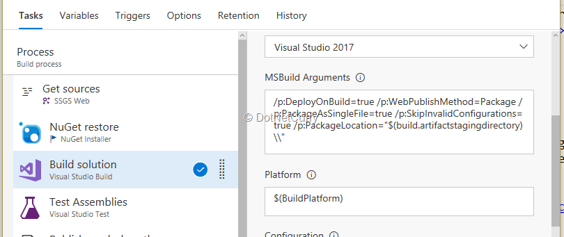build-parameters