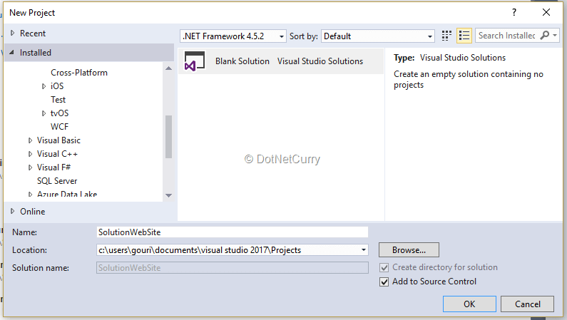 Using Test Hub in VSTS to run Automated Tests on Web