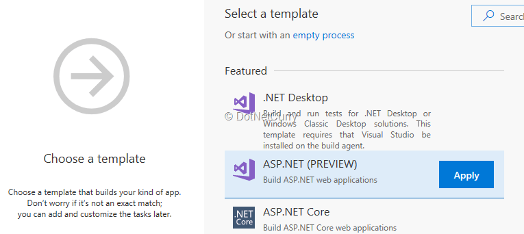 select-build-template
