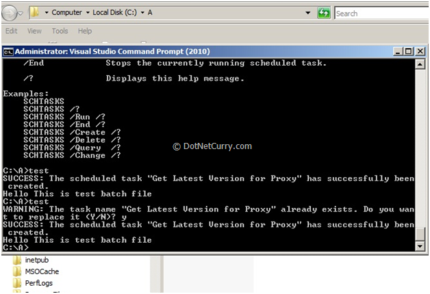 Using TFS 2010 Source Control From Command Line tf exe is