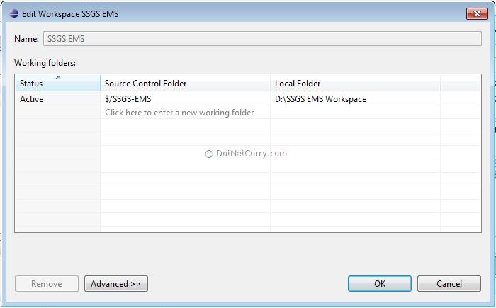 Team Foundation Server (TFS) 11 – Exploring Local Workspace