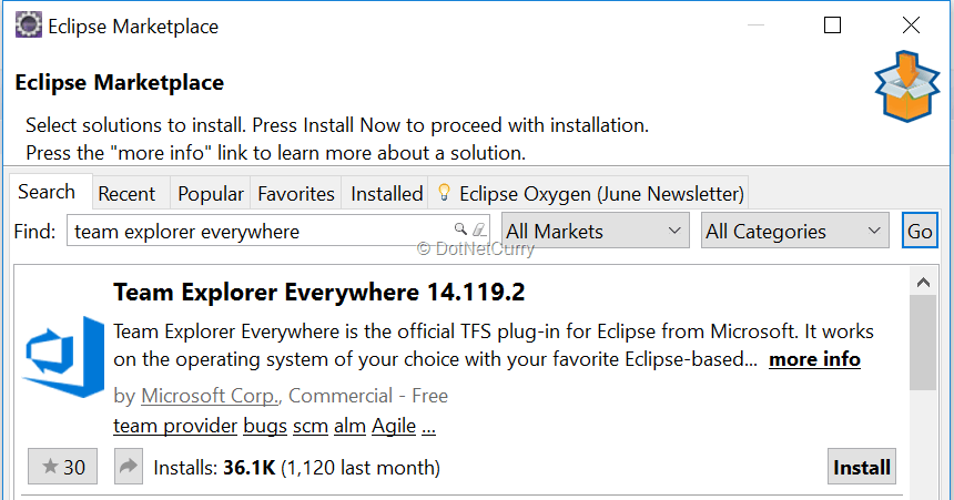 install-tee-eclipse-marketplace