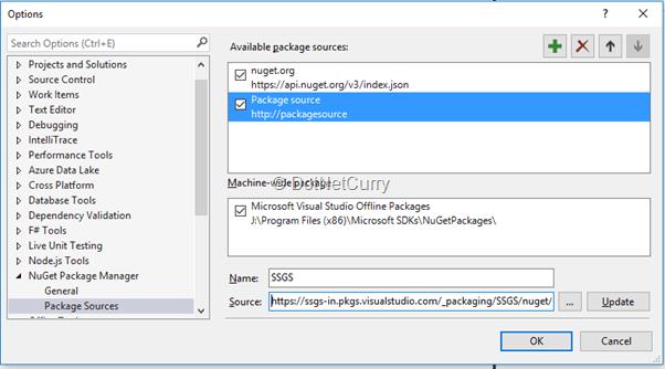 nuget tutorial server 2016