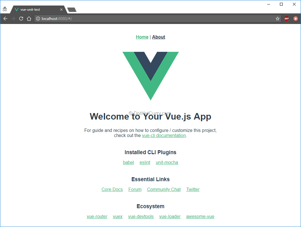 Unit testing with Vue js (using vue-test-utils, mocha