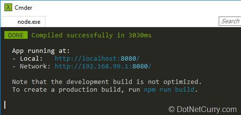 running-npm-run-serve