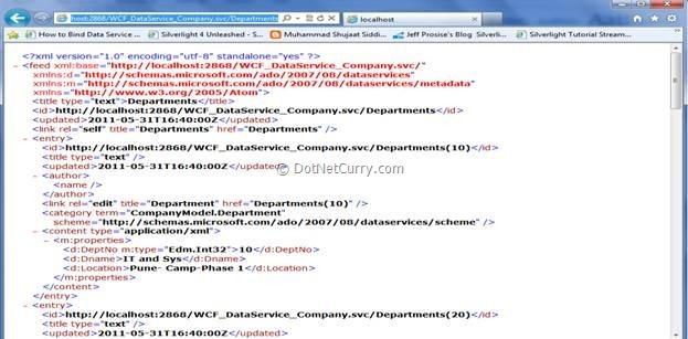 WCF XML format