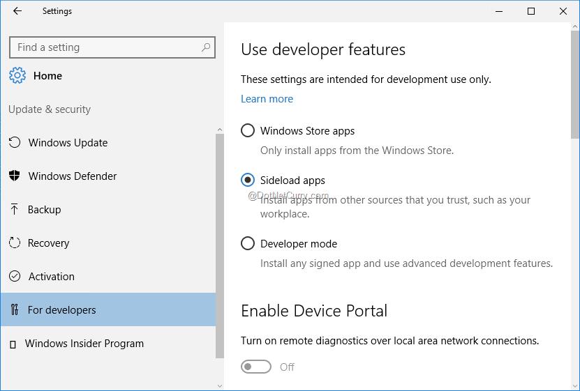 sideloading-enabled-in-windows-settings