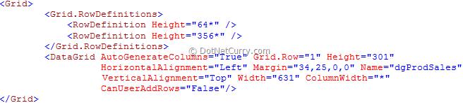 WPF DataGrid Style