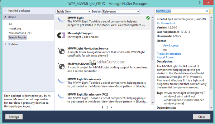 Using MVVM Light in WPF for Model-View-ViewModel