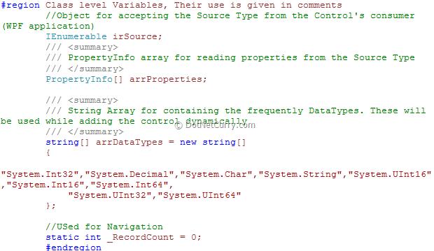 wpf-dataform-class-variables