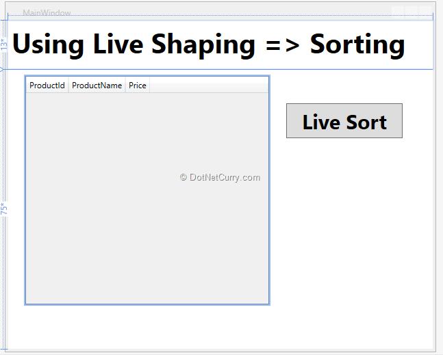 live-sorting-designer-view