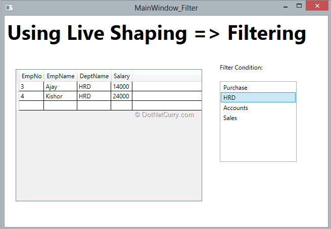 runtime-live-shaping-filtered-data
