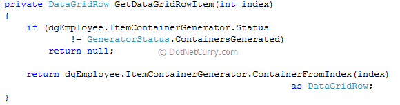 WPF 4 DataGrid Row Drag and Drop | DotNetCurry