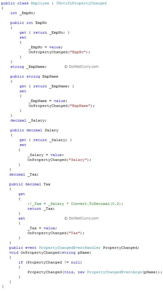 WPF Employee Example